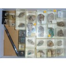 Gemischte Mineralien der Grube Silberbrünnle, Gengenbach, Schwarzwald, D., 1 Partie mit 29 Stück.