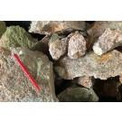 Suevit, rot, Meteoriten-Impaktgestein, Nördlinger Ries Krater, D. 1 kg