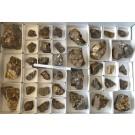 Gemischte Mineralien der Grube Mark, Hessen, D., 1 Steige