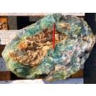 Fluorit (bunt, gebändert, Schleifware), Mexiko, 1 Stück mit 65 kg