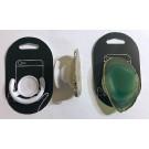 Handyhalterung (Aufklappbar) mit Achatscheibe (grün), 1 Stück