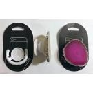 Handyhalterung (Aufklappbar) mit Achatscheibe (rosa), 1 Stück