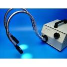 Mikroskop Kaltlichtquelle mit 2-armigen Faserglasleitern und Fokussierlinsen