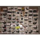 Sphalerit (Zinkblende), Fluorit, Muskovit xx, Aris, Windhoek, Namibia; 1 Partie mit 60 Stück, große Steige