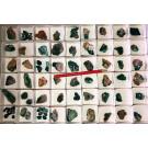 Dioptas xx, Steiner Mine, Kaokoveld, Namibia, 1 Steige kleinere Stücke