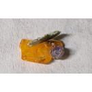 Wulfenit, Fluorit, Mimetitesit xx; Cholla Cat Mine, AZ, USA; 1 Mini-Mining Beutel zu 3/4 US-Pfund