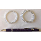Armband für Kinder, Bergkristall, 4 mm Kugeln, 1 Stück