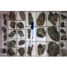 Chalconatronit Kristalle auf Matrix, Grube Glücksrad, Oberschulenberg, Harz, Deutschland, 1 Steige