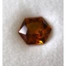 Glas Dublette hexagonal, orange, 6 mm
