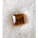 Glas Dublette rechteckig, gelb, 4 mm