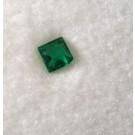 Glas Dublette rechteckig, grün, 3 mm