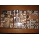 Gemischte Mineralien mit alten Sammlungsetiketten, 1 Partie mit 100 Stufen