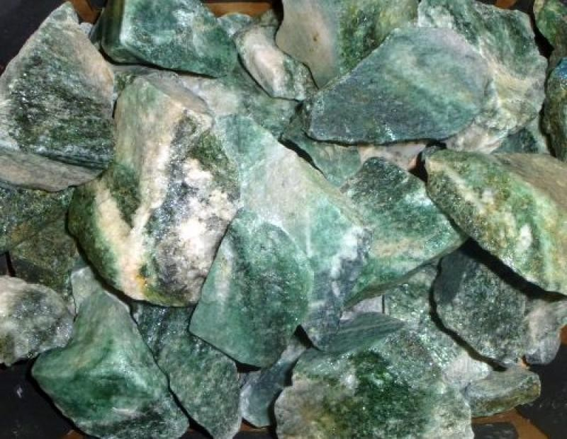 Fuchsite (in a granite), Norway, 100 kg