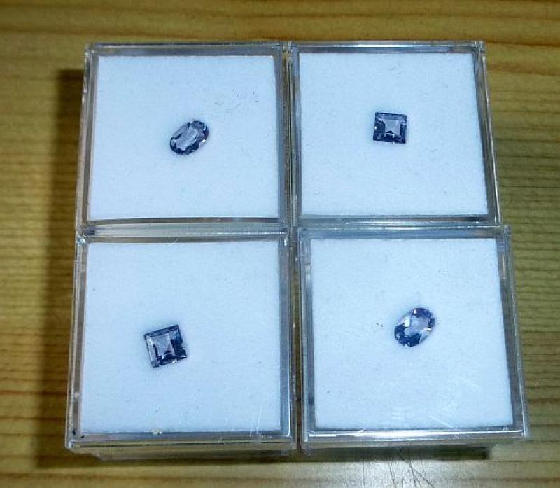 Scapolite facetted 5 mm, Tanzania