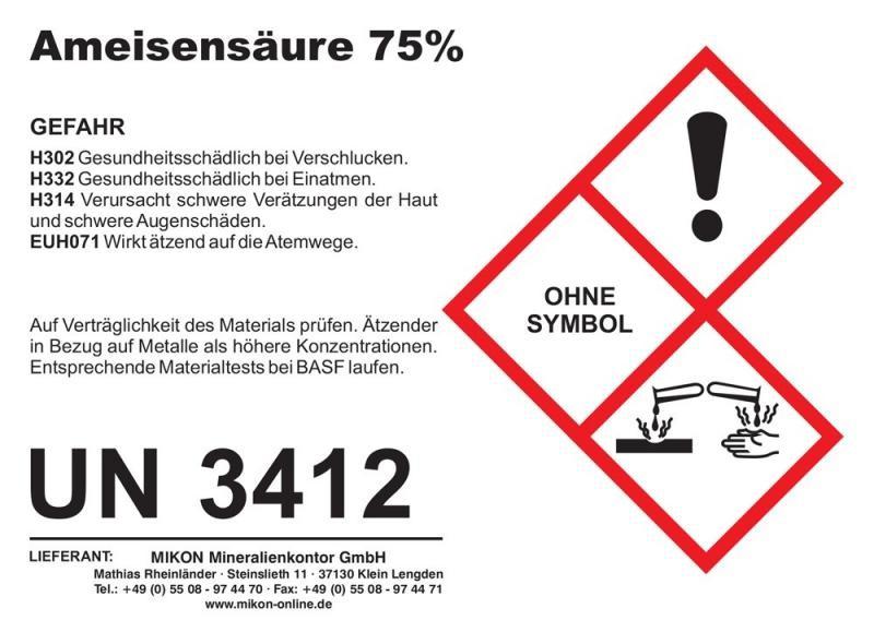 Formic acid 75%, 1 l