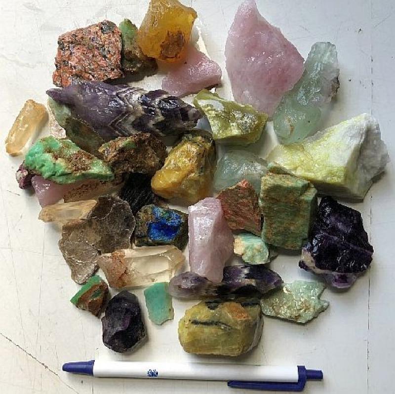 Decorative rocks, mixed colours, 100 kg