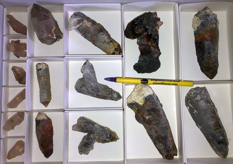 Quartz - Mountain Quartz crystals, Erongo, Namibia, 1 flat