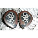 Septaria-pairs (polished) 10 cm, Morocco, 1 pair