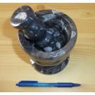 Orthoceras-mortar and pestle, 1 piece