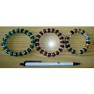 Wrist band with glass/zirconia beads, 1 piece