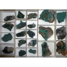 Zambia minerals, 10 flats, mixed