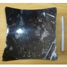 Orthoceras bowl, square-vaulted, black, app. 16 cm, 1 piece