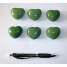 Heart made of aventurine quartz, untreated, app. 4 cm, 1 piece