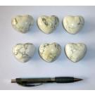 Heart made of howlite/magnesite, untreated, app. 4 cm, 1 piece