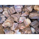 Petrified wood, smaller pieces, Madagascar, 100 kg