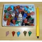 Stone pendulum pendant, small, mixed, 100 pieces
