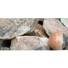 Calcite, orange, fine grained, Madagascar, 100 kg