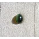 Sillimannite cats eye, cabochon, 6 mm, Sri Lanka
