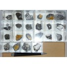Mixed minerals from Playa de Famasa, Lanzarote, E., 1 lot of 22 pieces.