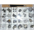 Mixed minerals from Playa de Famasa, Lanzarote, E., 1 lot of 24 pieces.