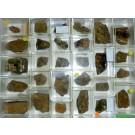Mixed minerals from Steinbruch Schmitt, Altenmittlau, Spessart, Hessen, Germany, 1 lot of 28 pieces.