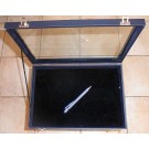 Jewellery display case, no compartments, black