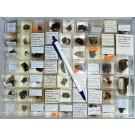 Mixed minerals from Grube Schöne Aussicht, Dernbach, Westerwald, Germany, 1 lot of 61 pieces.