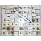 Mixed minerals from Grube Schöne Aussicht, Dernbach, Westerwald, Germany, 1 lot of 63 pieces.