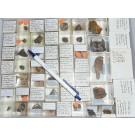 Mixed minerals from Grube Schöne Aussicht, Dernbach, Westerwald, Germany, 1 lot of 53 pieces.