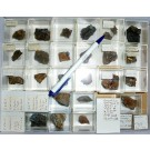 Mixed minerals from Grube Castor, Loope, Bergisches Land, Germany, 1 lot of 30 pieces.