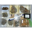 Mixed minerals from Grube Lüderich, Untereschbach, Bergisches Land, Germany, 1 lot of 12 pieces.