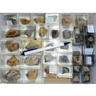 Mixed minerals from Steinbruch Lenz, Rockenhausen, Pfalz, Germany, 1 lot of 42 pieces.