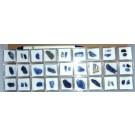 Tanzanite crystals, untreated, 27 MM
