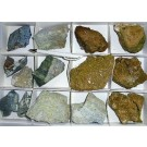 Coalingite (CA, USA) + Titanite (Sphene) xx (Brazil), 1 Steige