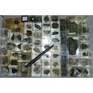 Mixed minerals from Steinbruch Becke Öse, Hemer, Sauerland, Germany, 1 lot of 67 pieces.