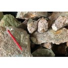 Suevite, red, meteorite impact rock, Noerdlinger Ries Crater, Germany, 1 kg