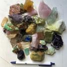 Decorative rocks, mixed colours, 1 kg