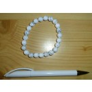 Wrist band, howlite, 6 mm spheres, 1 piece