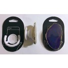 Cell phone holder (foldable) with agate slice (purple), 1 piece