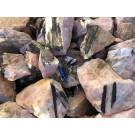 Tourmaline (Schorl in rose quartz), Trekkoppie, Namibia, 100 kg